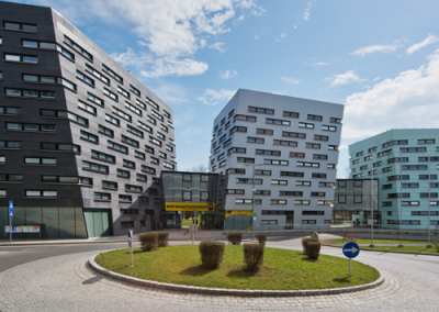 Wirtschaftszentrum Niederösterreich  Kreisverkehr  St. Pölten / NÖ